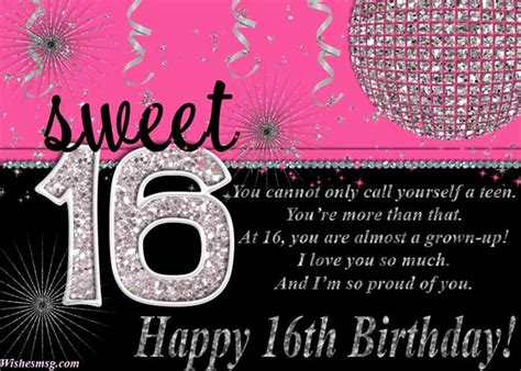Happy Sixteenth Birthday Wishes 16th Birthday Wishes Messages For Sweet Sixteen Wishesmsg
