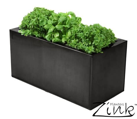 kitchen herb planter zinc kitchen herb planter pewter l50cm x h25cm