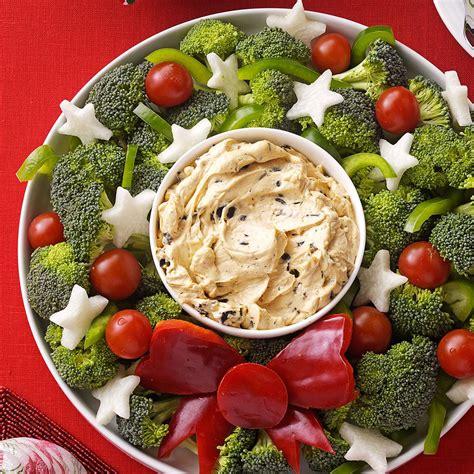 vegetables dip vegetable wreath with dip recipe taste of home