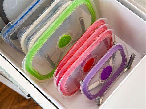 easy ways  organise  tupperware  food storage