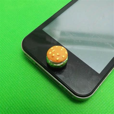 Home Button Iphone Tombol Stiker Glossy mcd vegetables beef hamburger home button sticker for iphone 3 4 4s 5 2 3 4 ipod touch 2 3
