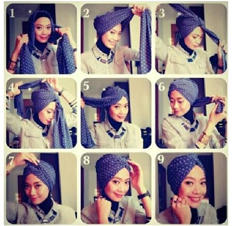 tutorial hijab turban pesta pernikahan 9 best tutorial hijab images on pinterest hijab tutorial
