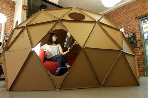 How To Make A Paper Geodesic Dome - how to build a geodesic dome out of cardboard digital trends