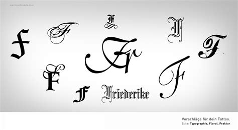 typographic tattoo inital f by schledde on deviantart