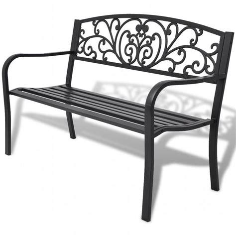 panchine in ghisa vidaxl panchina da giardino in ghisa nera