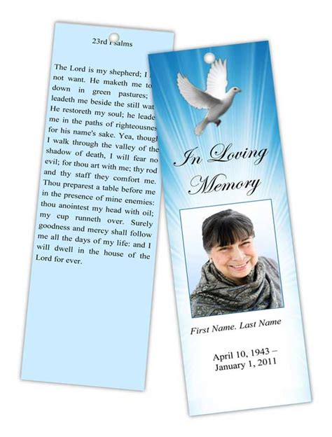 funeral programs  memorial cards bookmarks prayer cards