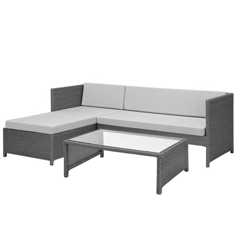 sofa polyrattan casa pro 174 poly rattan lounge corner sofa table garden