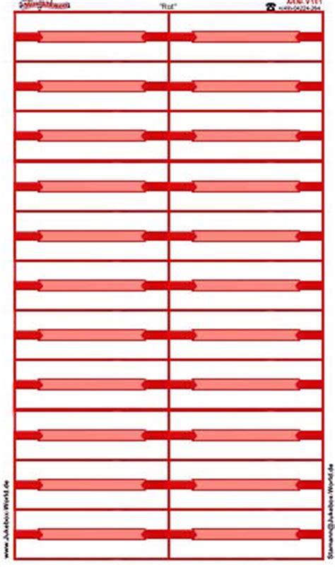 Beschriftung Jukebox by Stamann Musikboxen Jukebox World Titelstreifen Quot Rot
