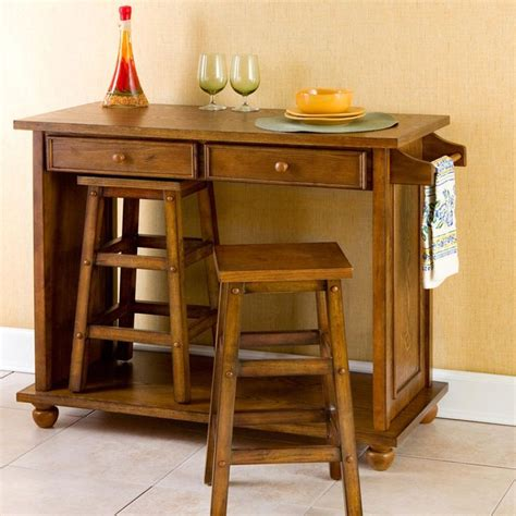 kitchen island with 4 stools small kitchen here s a space saving solution get