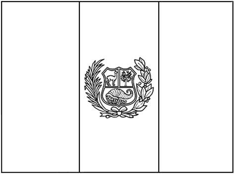 la bandera de peru para colorear bandera para colorear de per 250 dibujos infantiles