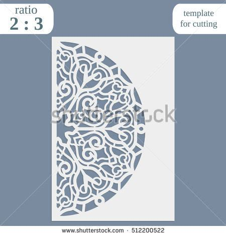 Laser Cut S Day Card Template by 8 March Womens Day Greeting Card Stock Vector 577703758