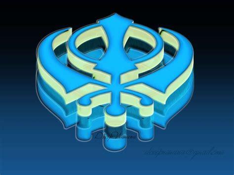 blue khanda wallpaper pics for gt sikh symbol wallpaper blue