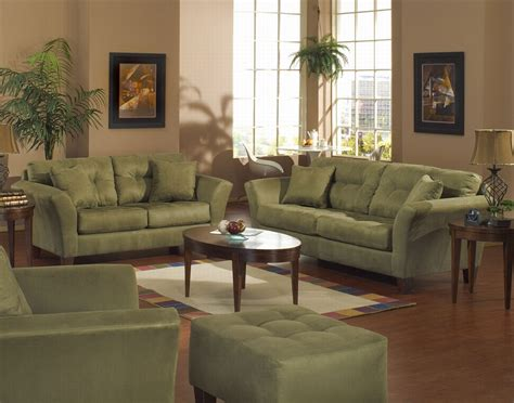 green sofa style architecture interior design - Green Living Room Furniture