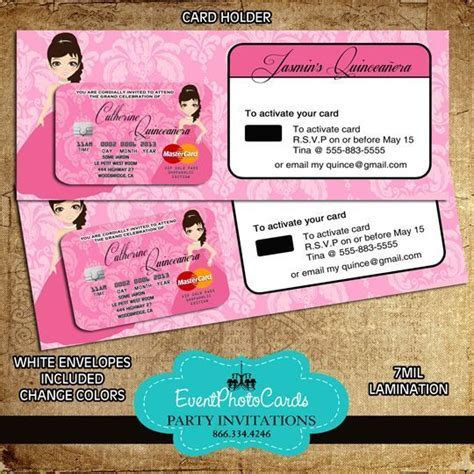21 Best images about Credit Card Invitations on Pinterest
