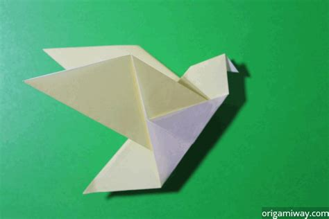 How To Make A Easy Paper Bird - easy origami and diagrams