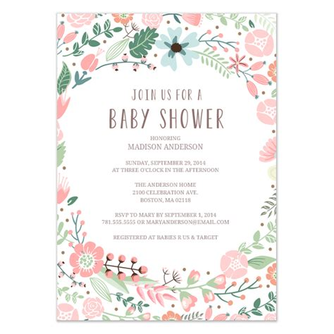 garden invitation template flower garden baby shower invitation invitations cards