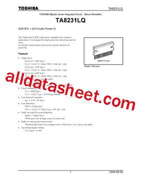 Ic Drv Strobo Abcd 2ch 4ch ta8231lq データシート pdf toshiba semiconductor