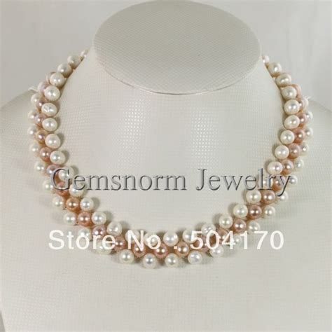 Pearl Necklace Handmade - aliexpress buy new handmade cultured freshwater