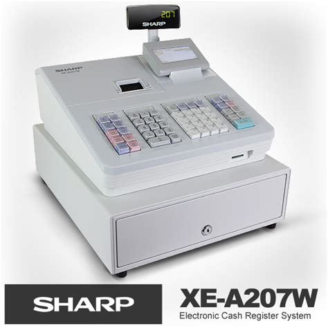 Mesin Kasir Xe A207w New Sharp Xe A207 White Electronic Register Dual