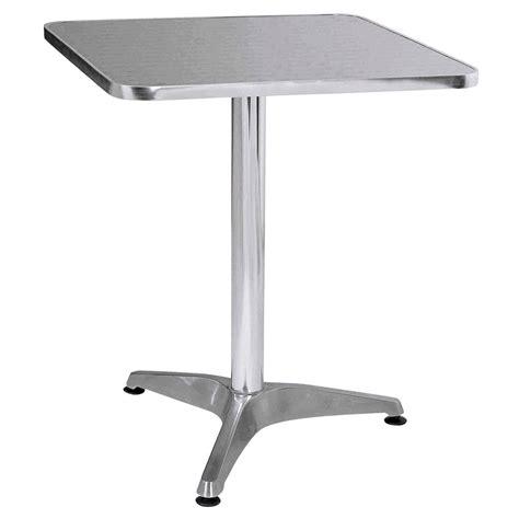 Aluminum Table by Rectangle Bistro Aluminium Indoor Outdoor Patio Decking Table Ebay