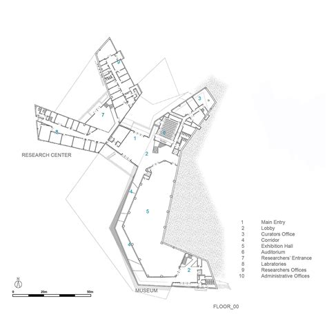 floor plan details of city museum architecture layout dwg file geology museum leemundwiler architects archdaily
