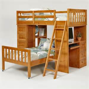 L Shaped Bunk Bed With Desk Chelsea Home Wayfair