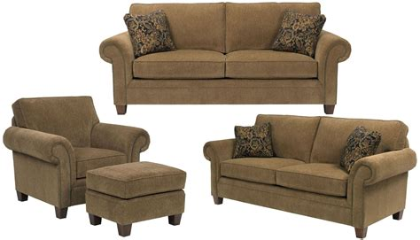 Walnut Living Room Furniture Sets Travis Walnut Chenille Fabric Living Room Set From Broyhill 7004 3q 8994 78 Coleman Furniture