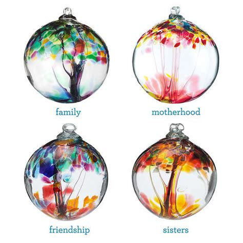 recycled glass balls sentimental glass blown ornaments relationship tree globes