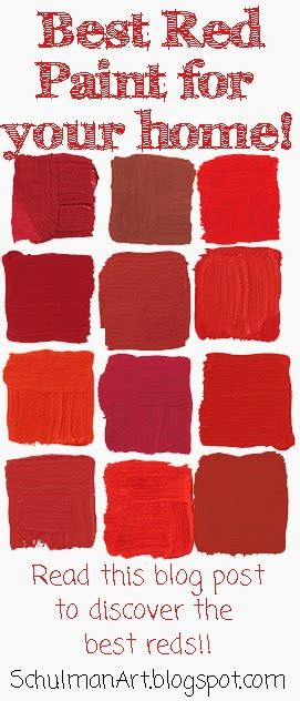 best selling popular shades of red paint colors from art blog for the inspiration place top ten picks for red