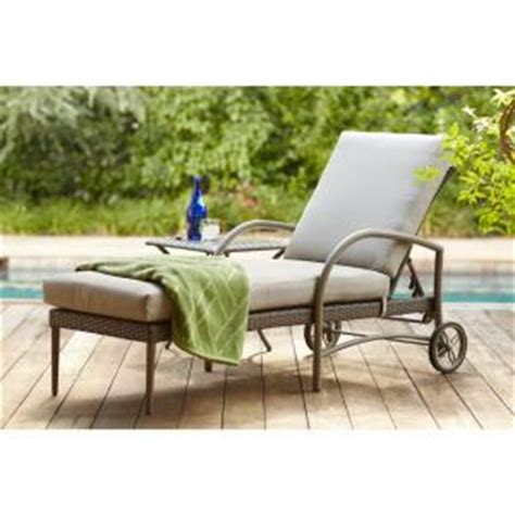Hton Bay Chaise Lounge hton bay posada patio chaise lounge with gray cushion 153 120 cl the home depot