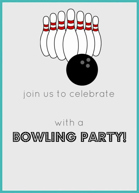 bowling birthday invitations free templates free printables archives jolly
