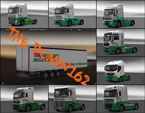all truck sm logistic skin pack for all trucks ets2