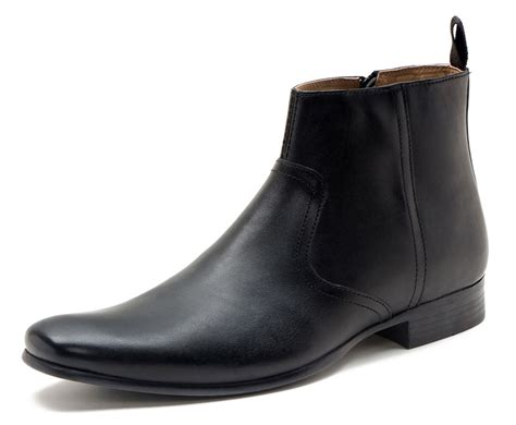 mens zip up chelsea boots belmont mens smart casual leather zip mens ankle