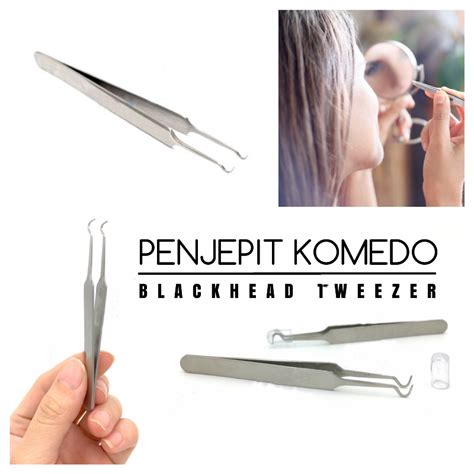 Pinset Pencabut Komedo pinset jepit pencabut komedo blackhead tweezer elevenia