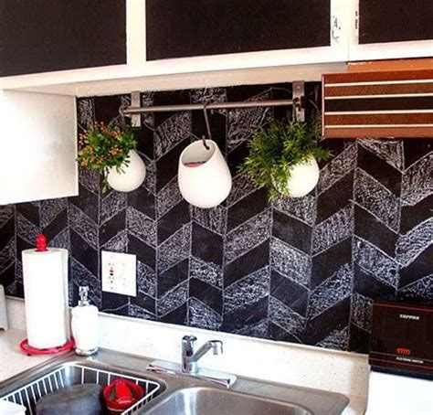 cheap diy kitchen backsplash ideas 24 low cost diy kitchen backsplash ideas and tutorials