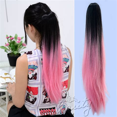 ombre ponytail technique hot 20 quot ponytail hair extensions two tone style ombre dip