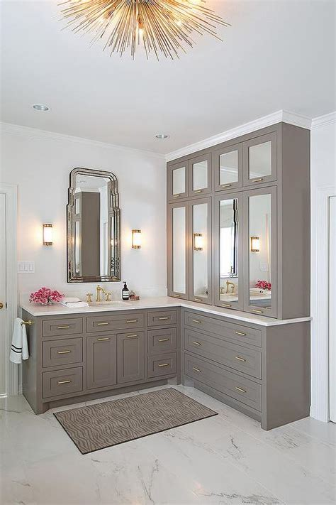 honed marble bathroom honed marble bathroom floor tiles gray mirrored bath vanity cabinets with brass pulls