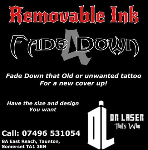 tattoo removal companies removable ink removal company in taunton uk