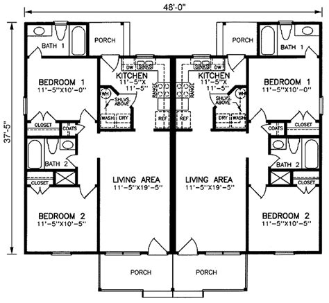 Duplex House Plans With Garage Duplex Home Plans At Coolhouseplans