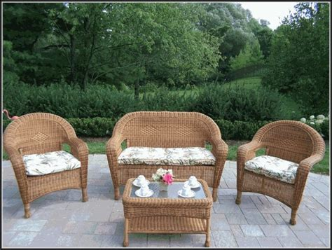 White Plastic Patio Furniture Sets Patios Home Pvc Wicker Patio Furniture
