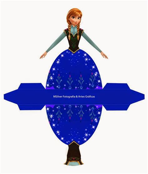 printable frozen anna anna from frozen free printable dress shaped box oh my