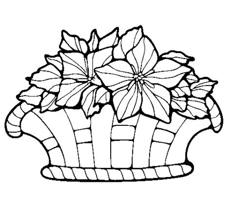 coloring pages basket of flowers basket of flowers 8 coloring page coloringcrew