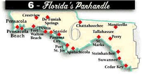 florida panhandle cities map florida panhandle hospitals