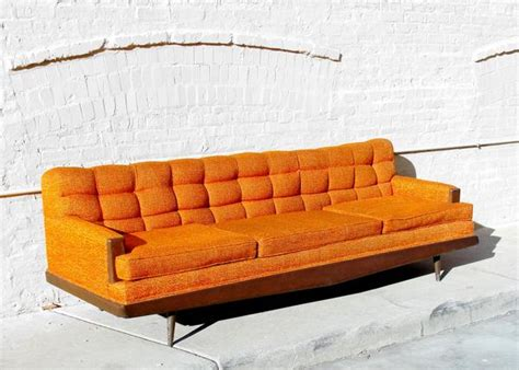 parlor couch mid century howard parlor sofa vintage furniture