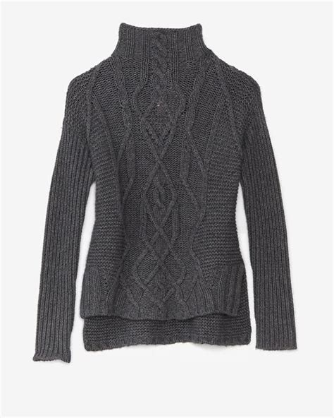 gray cable knit sweater cable knit sweater kitting cable the o