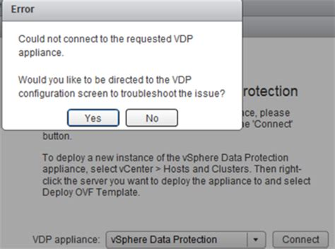 vmware  connect  vcenter webclient  vdp