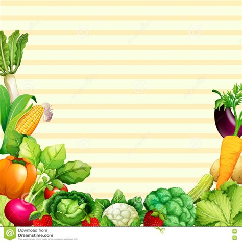 paper design with vegetables and fruits stock vector