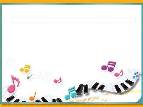 presentation templates for music piano music notes with frames ppt backgrounds piano music