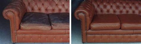 Leather Refinishing Sofa Furniture Upholstery Repair Of