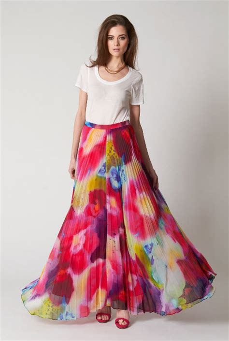 colorful skirts 187 colorful pleated skirt and how to wear it at in seven